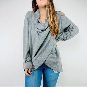 Lululemon gray drape button wrap jacket sweater